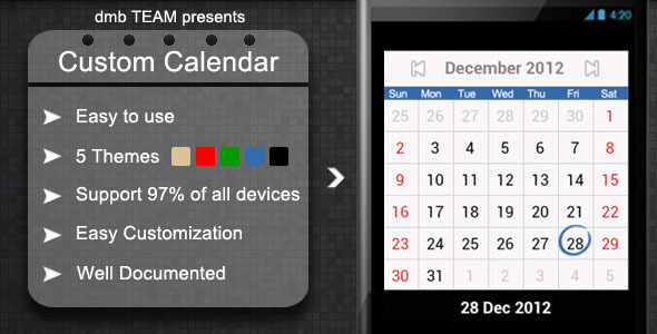 CodeCanyon Custom Calendar 3750692