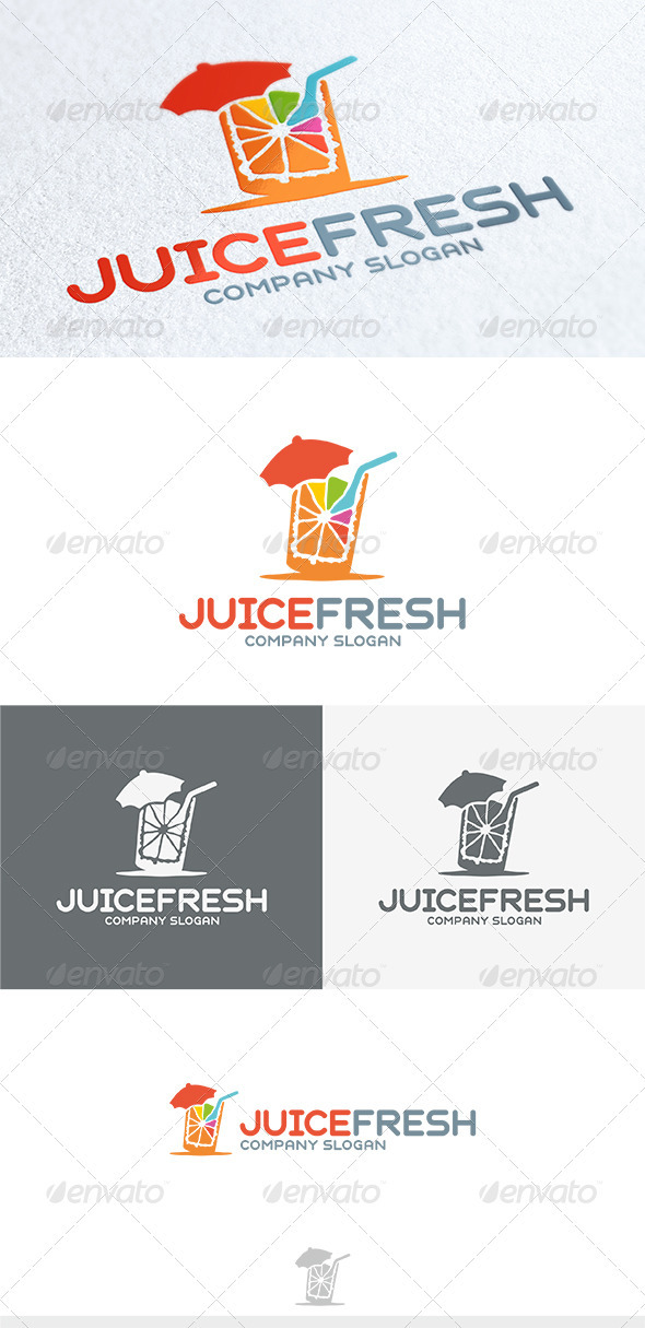 GraphicRiver Juice Fresh Logo 3750717