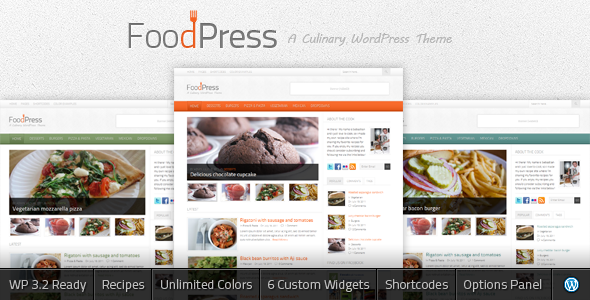 FoodPress - A Recipe & Food Blog WordPress Theme