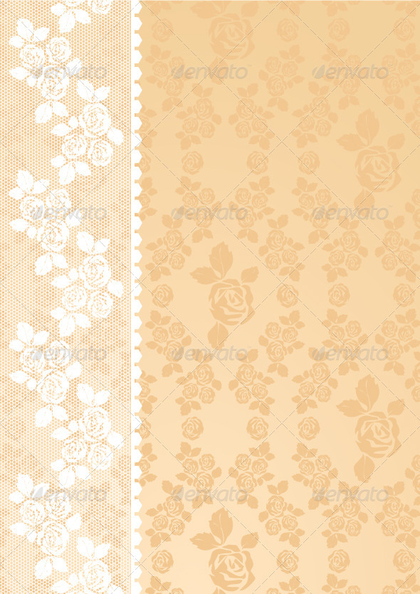 GraphicRiver Lace is beige 3751450