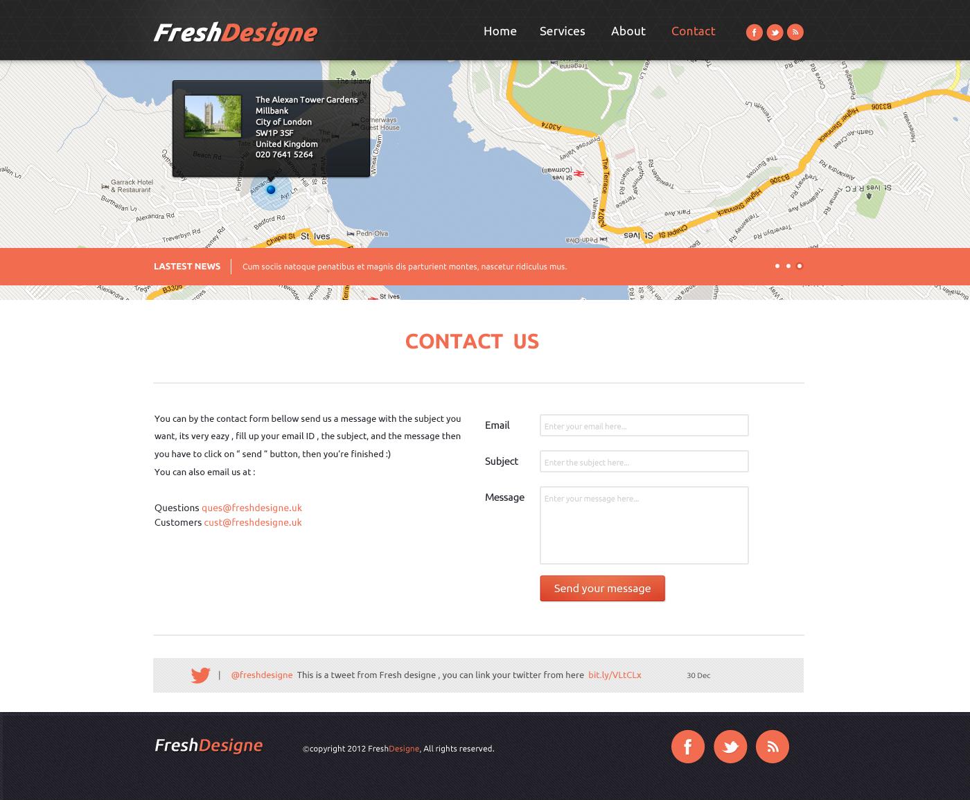 FreshDesigne - Creative Portfolio PSD Template