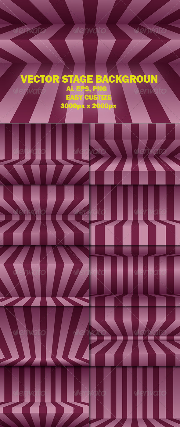Vector Stage Background - Backgrounds Decorative