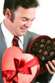 Man Gets Chocolate for Valentines Day - PhotoDune Item for Sale