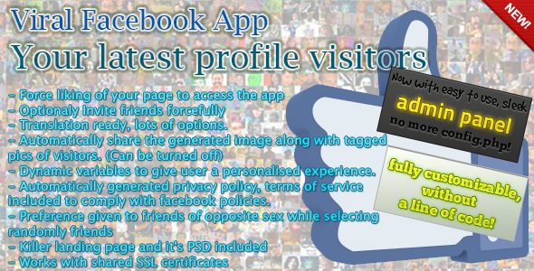 CodeCanyon Facebook Viral App Your Latest Visitors 2897990