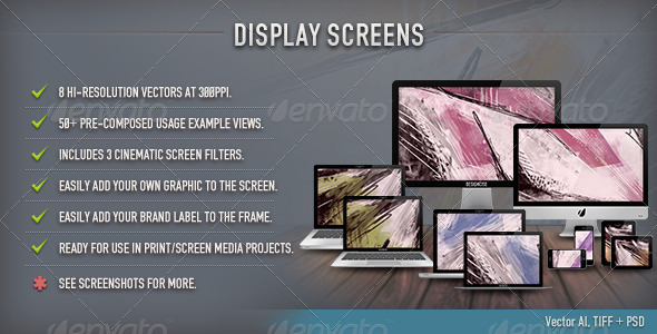 Display Screens Vector - Multiple Displays