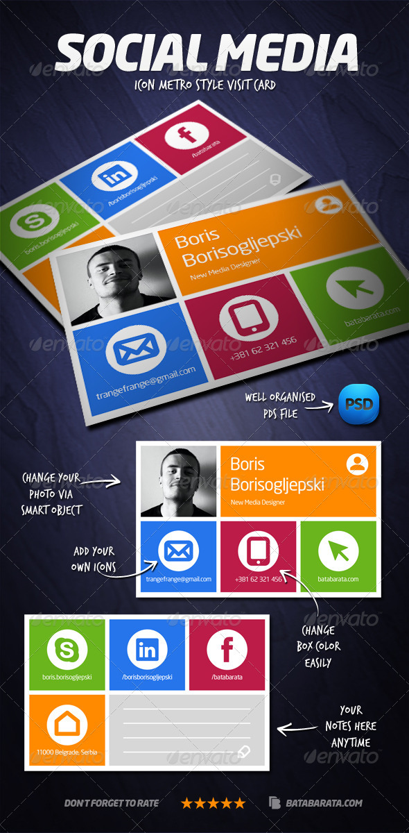 GraphicRiver Social Media Visit Card 3753557