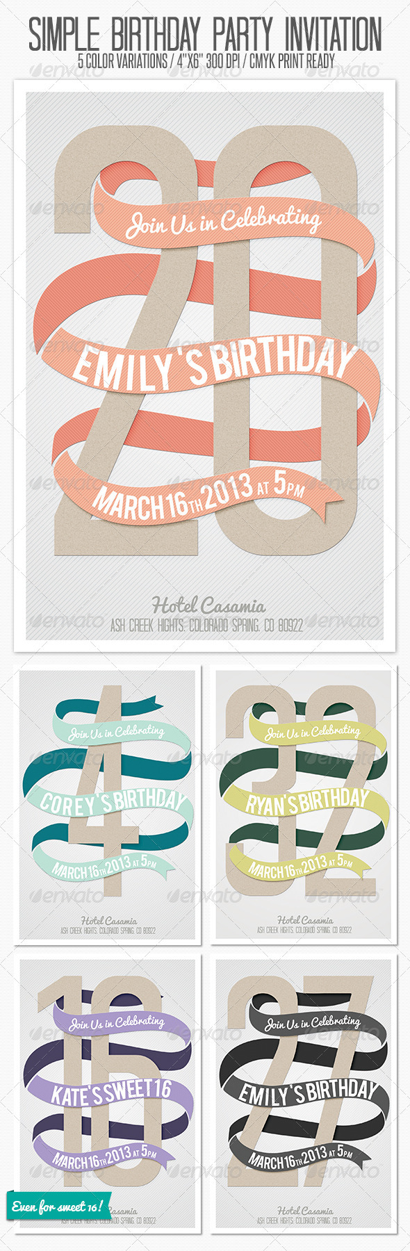 GraphicRiver Birthday Party Invitation 3753782