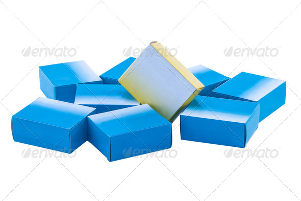 Drug Boxes  - Stock Photo - Images