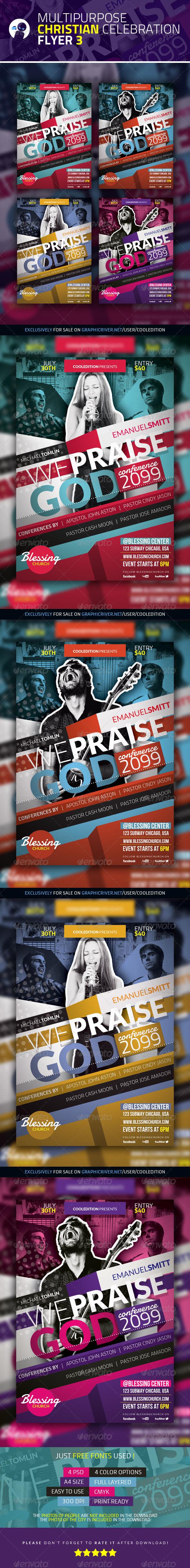 GraphicRiver Multipurpose Christian Celebration Flyer 3 3755551