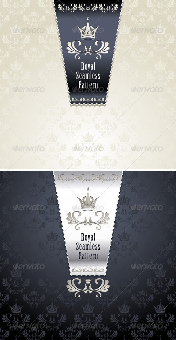 GraphicRiver Royal Seamless Pattern with Crown 3701262