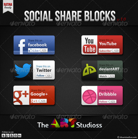 GraphicRiver Social Networking Sharing Blocks 3692285