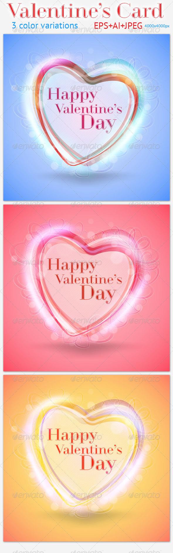 GraphicRiver Valentine s Card 3755702