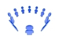 Blue crowd circular social network - PhotoDune Item for Sale
