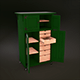 Realistic Rolling Wooden Tool Cabinet - 3DOcean Item for Sale