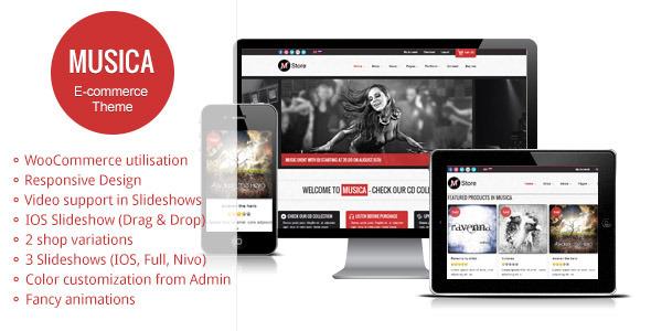 ThemeForest Musica Responsive WordPress WooCommerce Theme 3756360