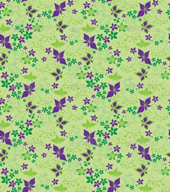 GraphicRiver Decorative floral seamless background 3756361