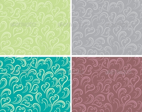 GraphicRiver Curly seamless background 3756362
