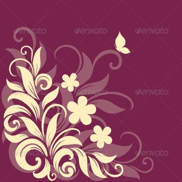 GraphicRiver Decorative floral background 3756366