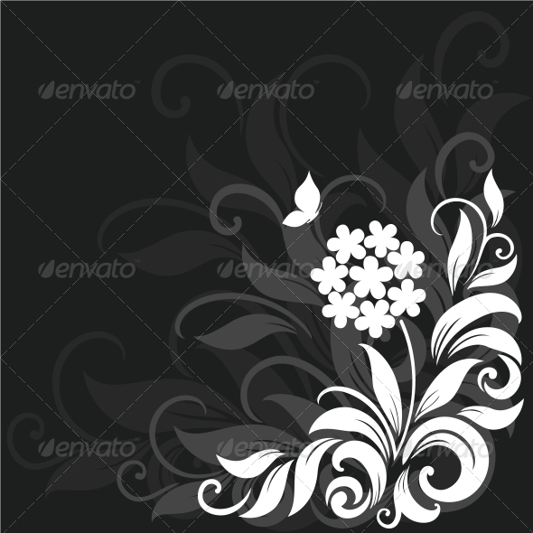 GraphicRiver Decorative floral background 3756367
