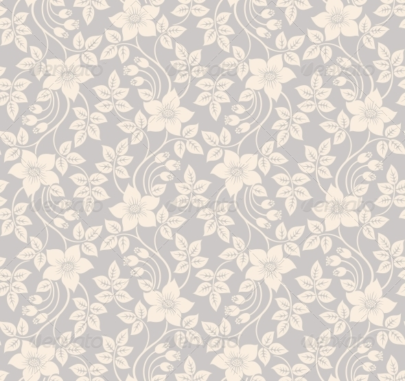 GraphicRiver Seamless floral background 3756369