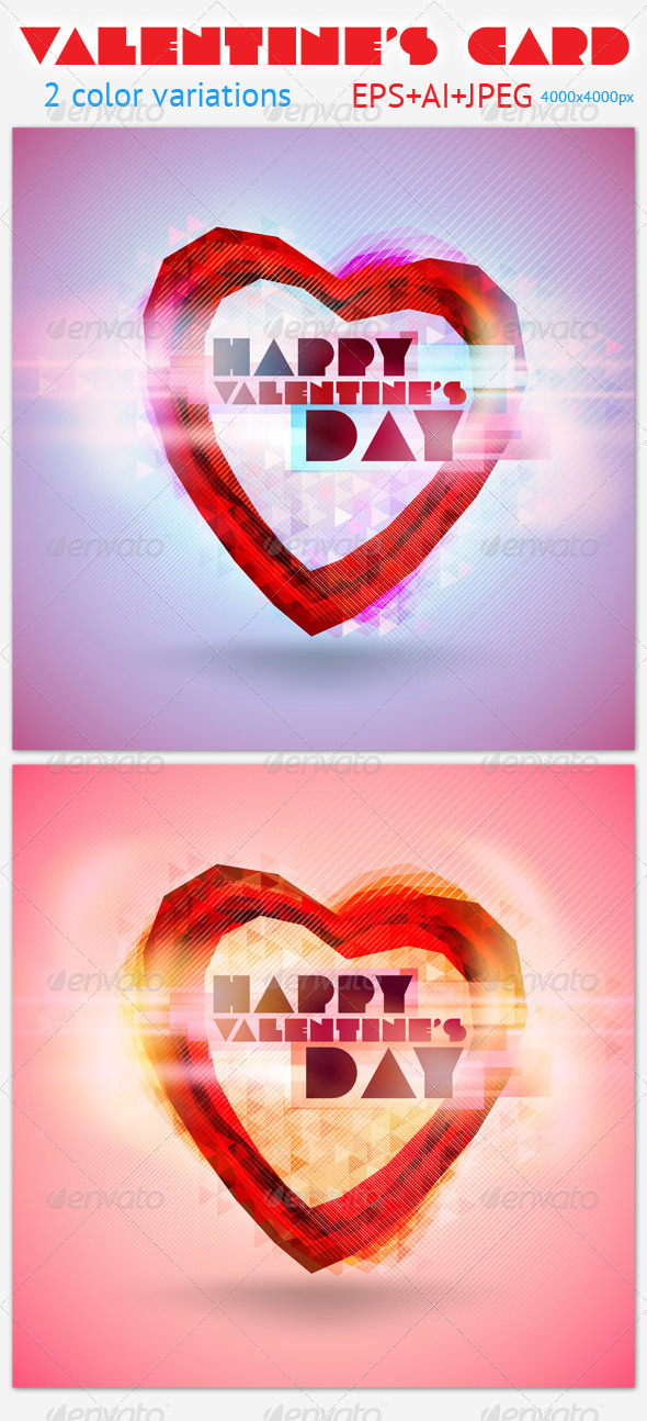GraphicRiver Valentine s Card 3757041