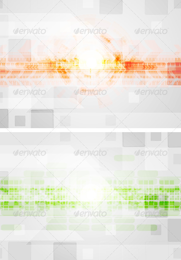Colourful technical design - Backgrounds Decorative