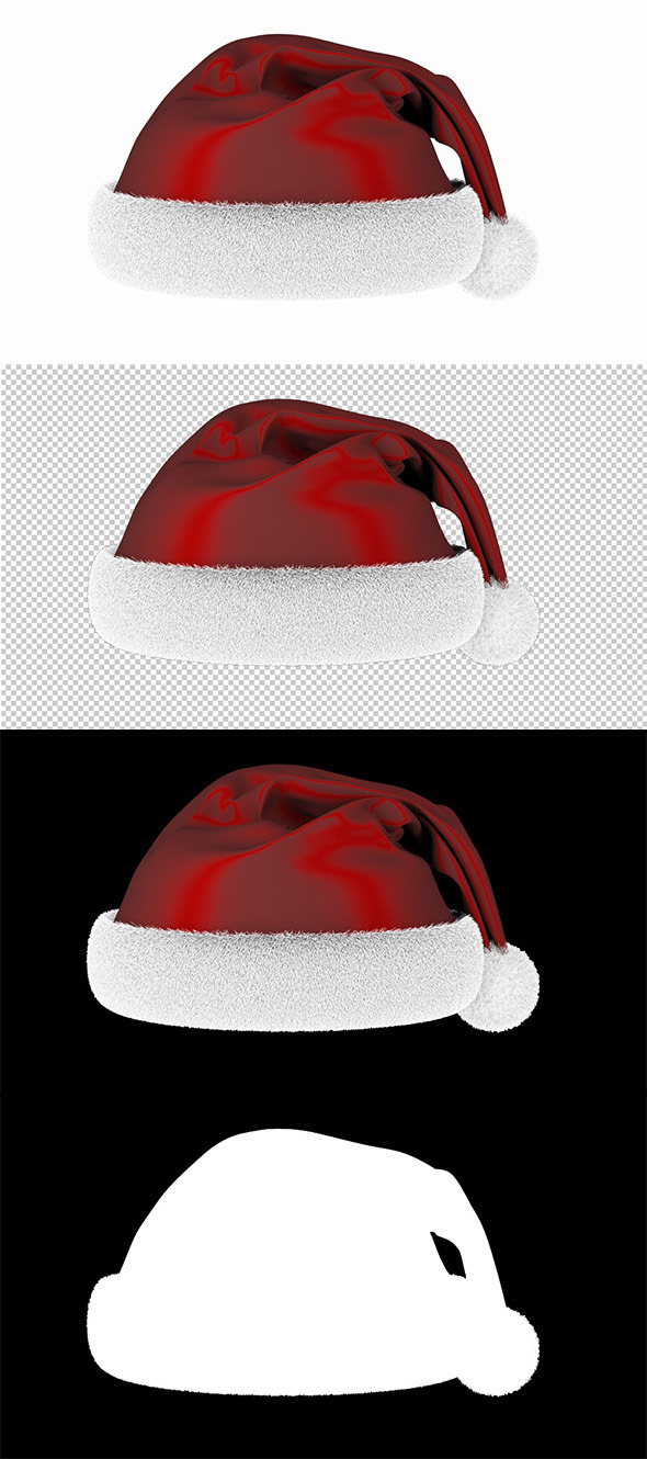 Ready render scene for Christmas Santa hat - 3DOcean Item for Sale