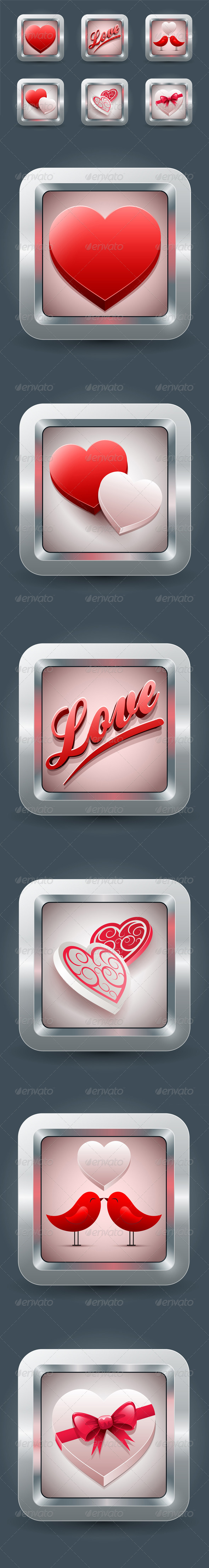 GraphicRiver Valentine s Day Love icon Collection 3758834