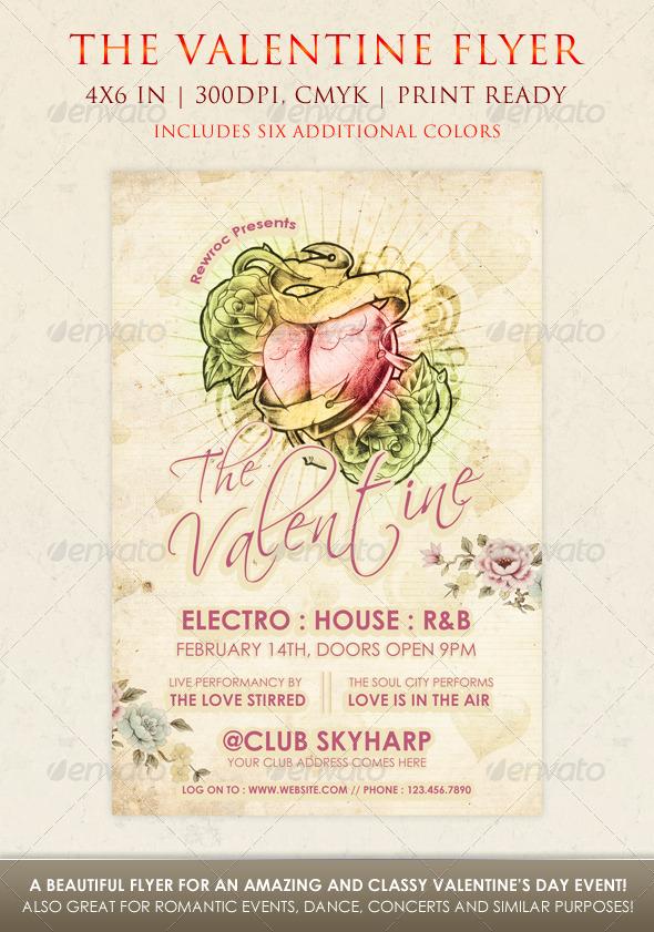 GraphicRiver The Valentine Flyer 3758984