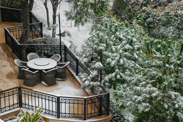 Snow In City - Stock Photo - Images