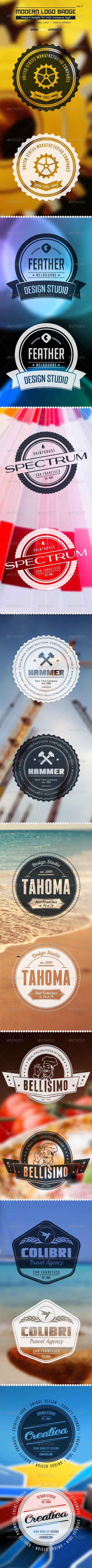 GraphicRiver Modern Logo Badge vol3 3759622