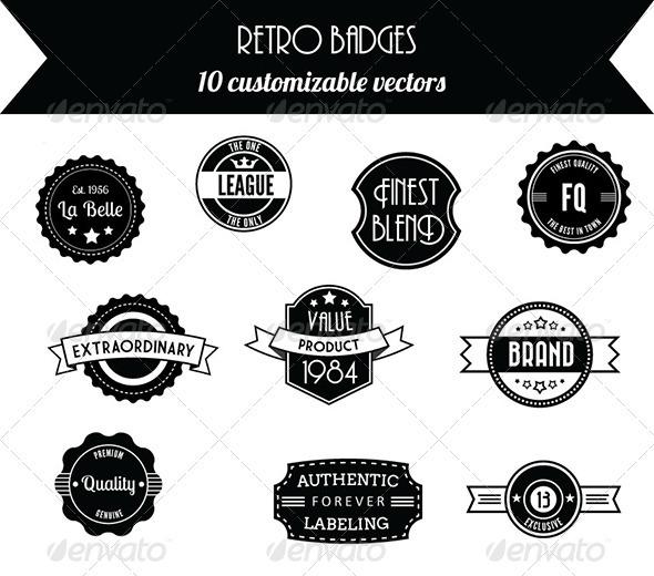 GraphicRiver 10 Retro Vintage Badges 3759679