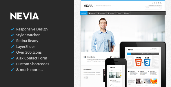 ThemeForest Nevia Responsive HTML5 Template 3708895