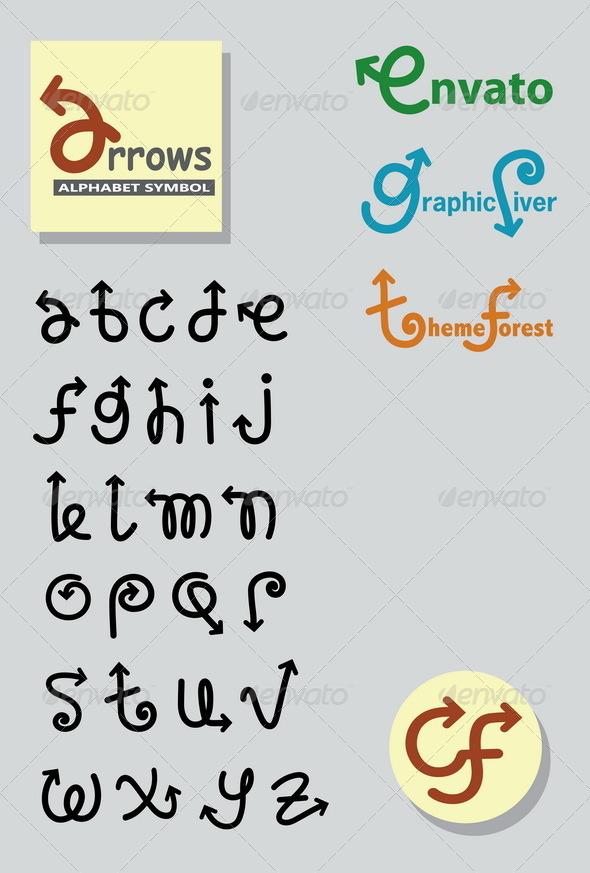 GraphicRiver Arrows Alphabet Symbols 3759719