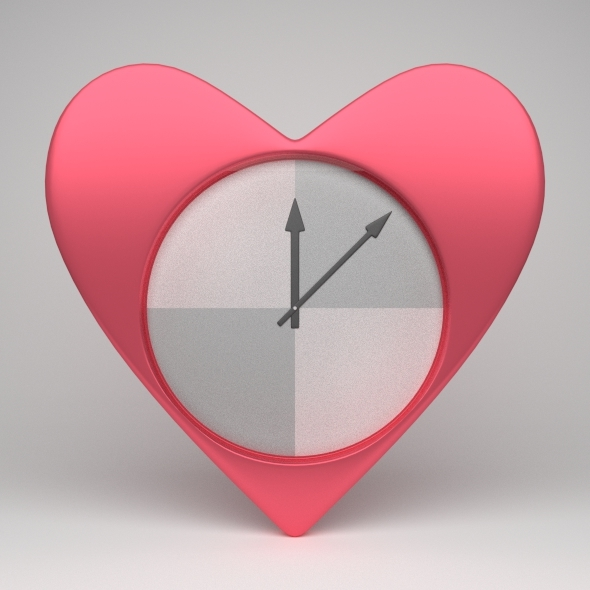 3DOcean Heart-Shaped Clock 3759723