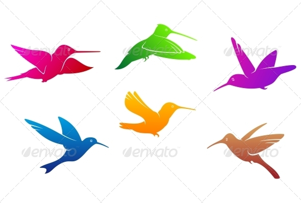 GraphicRiver Hummingbirds Symbols 3759930