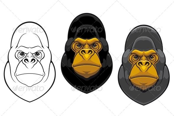 GraphicRiver Danger Gorilla Monkey Mascot 3759957