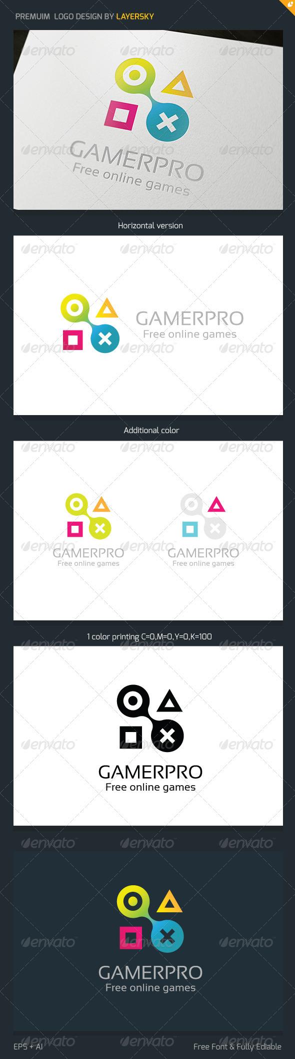 GraphicRiver Gamer Logo V3 3700495