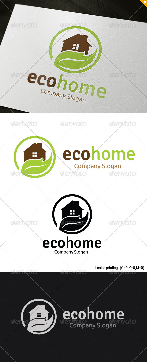 GraphicRiver Eco Home Logo 3693659