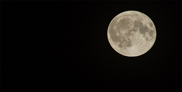 560mm Full Moon Time Lapse 4K Resolution