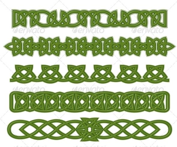 GraphicRiver Green Celtic Ornaments 3760071