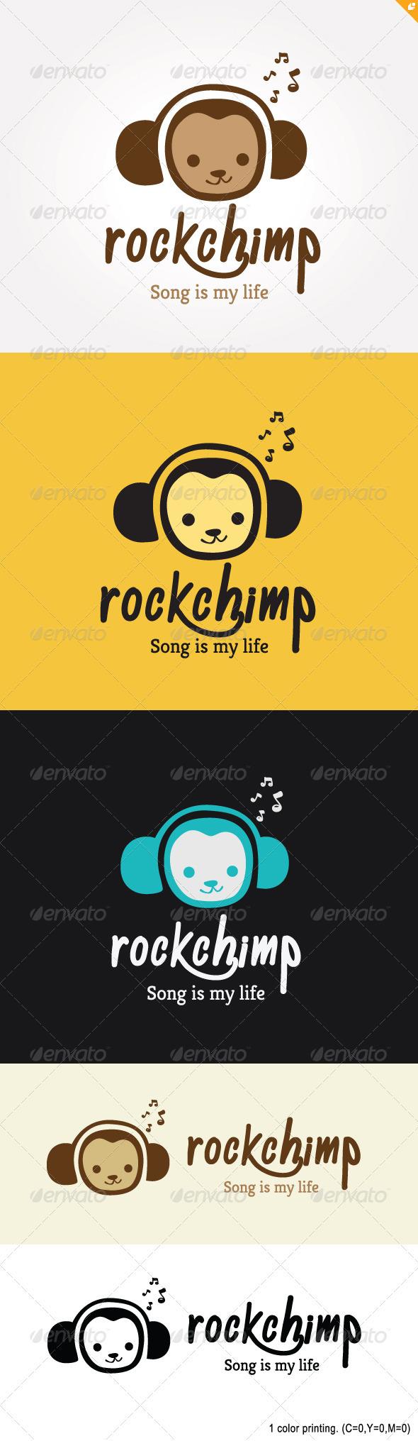 GraphicRiver Rock Chimp Logo 3691721