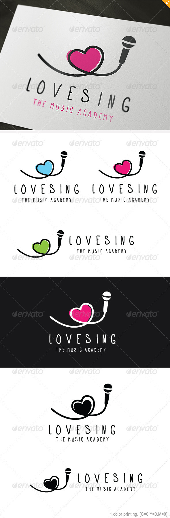 GraphicRiver Love Sing Logo 3691455