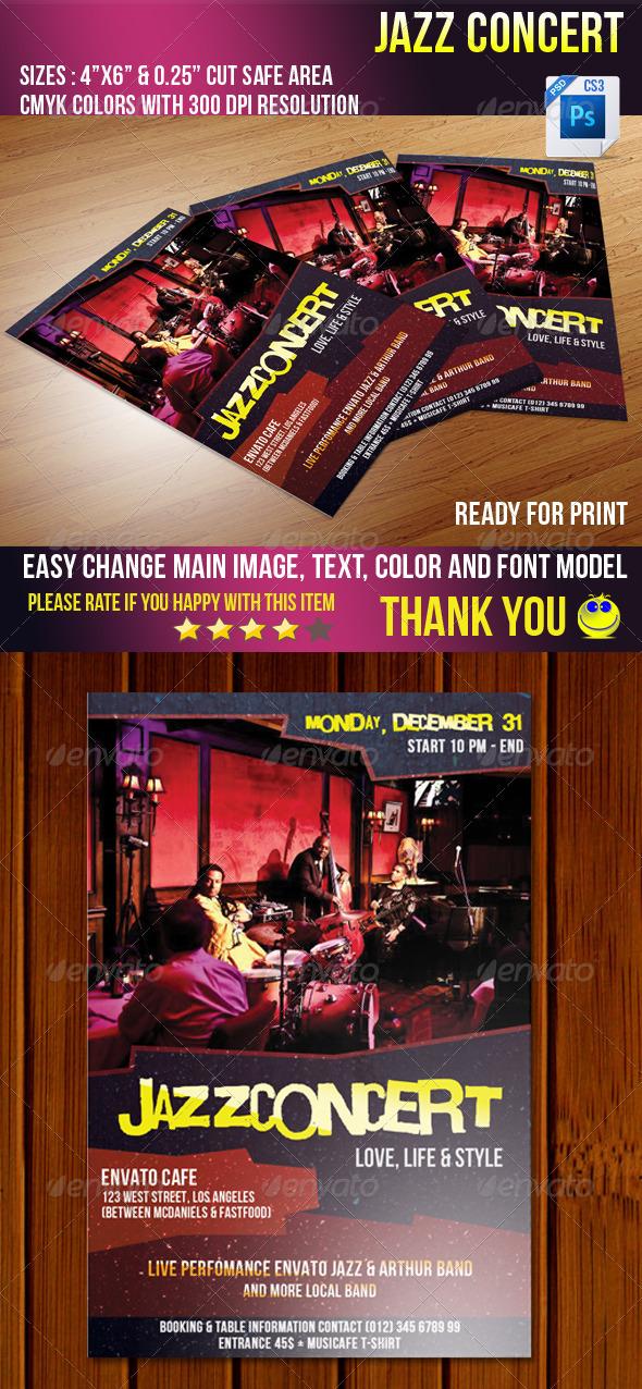GraphicRiver Jazz Concert 3697018