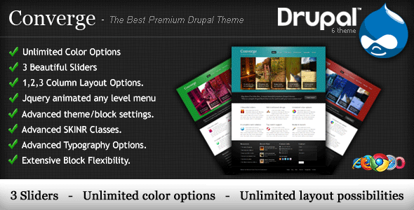 Converge - The Best Premium Drupal Theme.