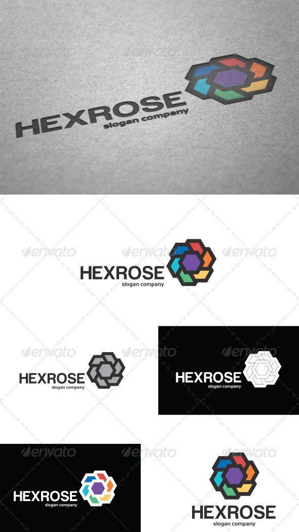 GraphicRiver Hexrose Logo 3651664