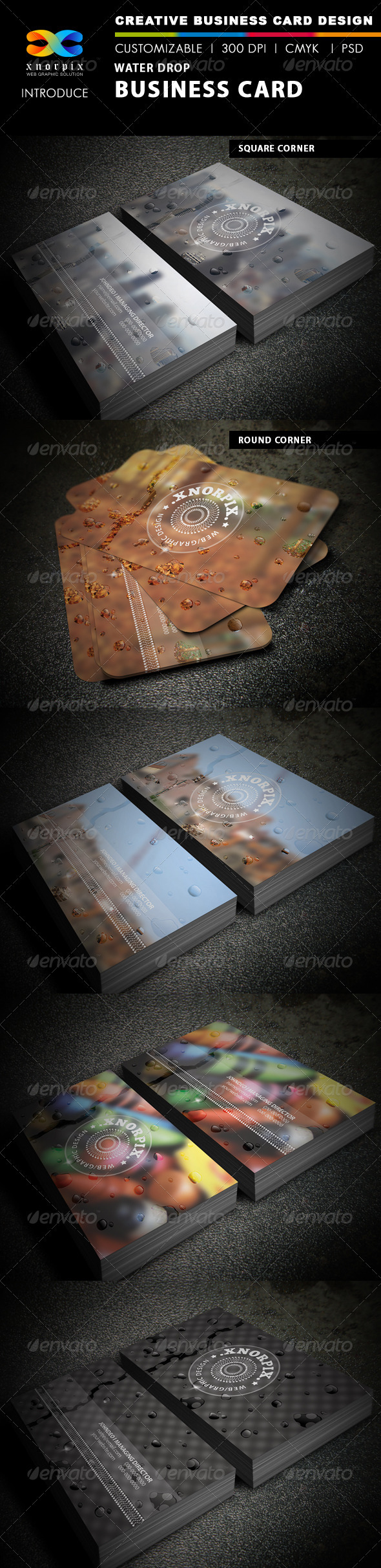 Water Drop Business Card - Creative Business Cards