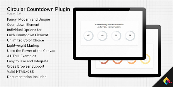 CodeCanyon Circular Countdown jQuery Plugin 3761921
