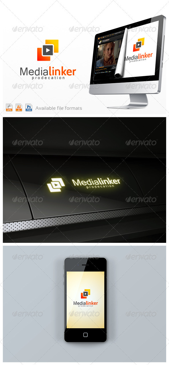 Media Linker Logo - Vector Abstract
