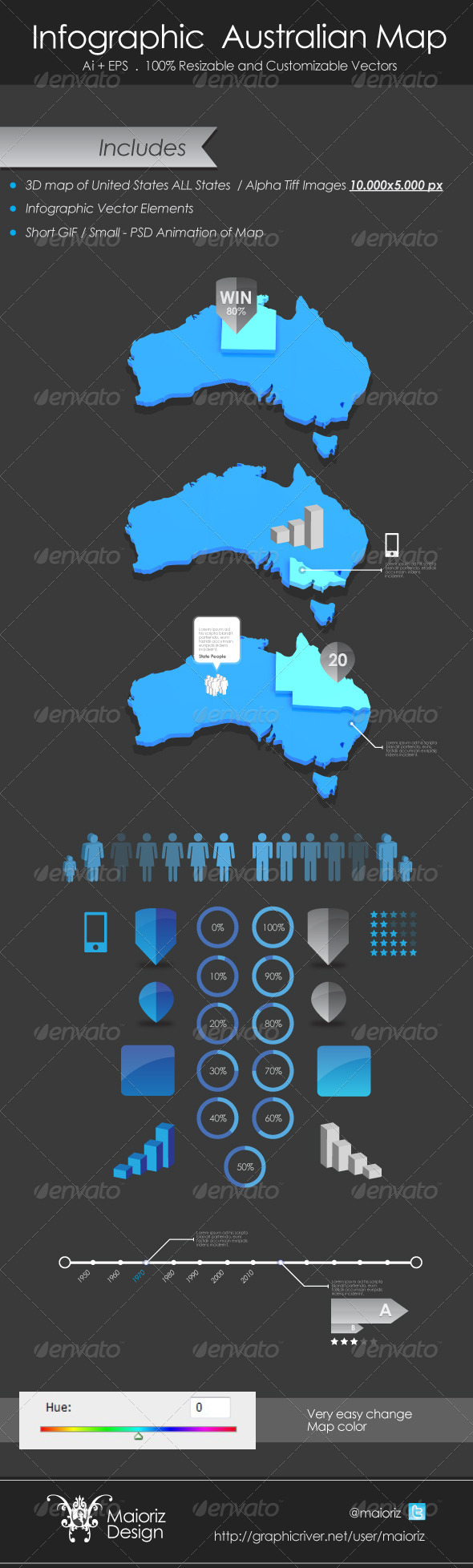 GraphicRiver Infographic Australian Map 3762840
